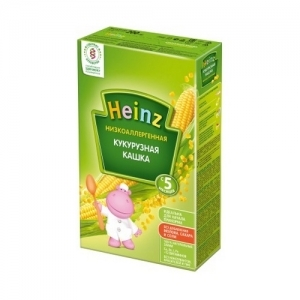 """Heinz"" НизкоАллергенная Кукурузная кашка с 5 месяцев 200 г."