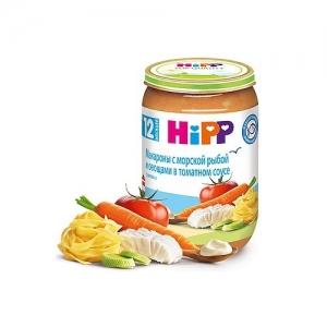 """""""HiPP"""" пюре Макароны с морской Рыбой и Овощами в Томатном соусе с 12 месяцев 220 г."""