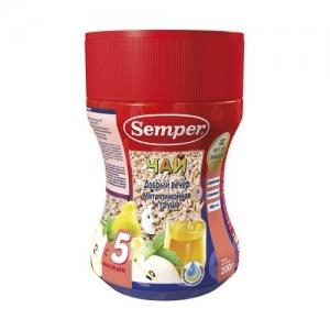 """Semper"" чай Мята лимонная и Груша. Добрый вечер с 5 месяцев 200 г."