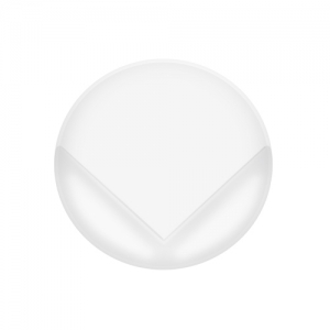Накладки на углы прозрачные матовые круглые , 4шт 13580