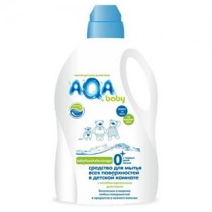 """Средство для мытья всех поверхностей в детской комнате с антибактериальным эффектом  """"AQA"""" baby 1 л."""