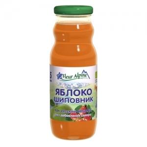 """""""Fleur Alpine"""" сок 200 мл. Яблоко Шиповник с 5 месяцев"""