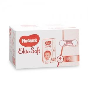 HUGGIES подгузники  Elite Soft Box №4 (9-14 кг) 132шт.