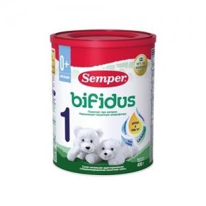 """""""Semper БИФИдус bifidus 1"""" молочная смесь 400 г. с Рождения"""