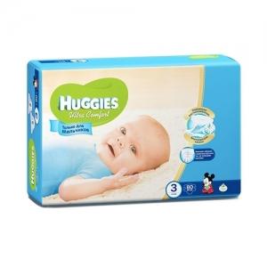 Подгузники HUGGIES Ultra Comfort для мальчиков Mega-Pack №3 (5-9 кг) 80 шт.