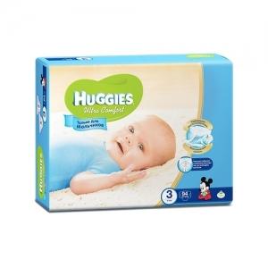 Подгузники HUGGIES Ultra Comfort для мальчиков GIGA-Pack №3 (5-9 кг) 94 шт.