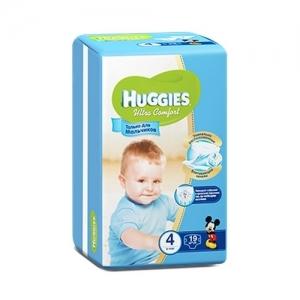 Подгузники HUGGIES Ultra Comfort для мальчиков Conv-Pack №4 (8-14 кг) 19 шт.