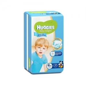 Подгузники HUGGIES Ultra Comfort для мальчиков Conv-Pack №4+ (10-16 кг) 17 шт.