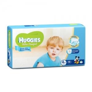 Подгузники HUGGIES Ultra Comfort для мальчиков GIGA-Pack №4+ (10-16 кг) 68 шт.