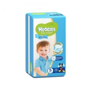 Подгузники HUGGIES Ultra Comfort для мальчиков Conv-Pack №5 (12-22 кг) 15 шт.