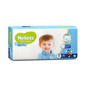 Подгузники HUGGIES Ultra Comfort для мальчиков GIGA-Pack №5 (12-22 кг) 64 шт.