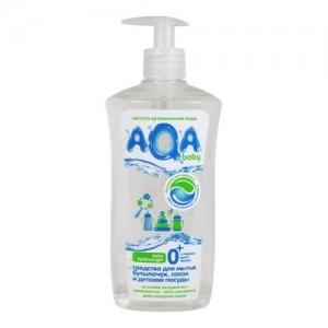 """Средство для мытья бутылочек, сосок и детской посуды """"AQA"""" baby 500 мл. с дозатором"""