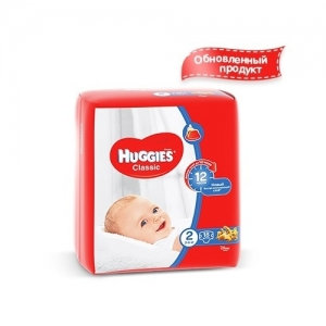 Подгузники HUGGIES Classic Small-Pack №2 (3-6 кг) 18 шт.