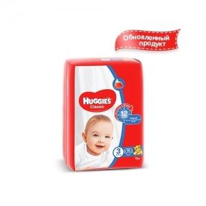 Подгузники HUGGIES Classic Small-Pack №3 (4-9 кг) 16 шт.