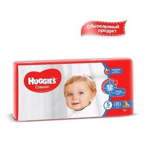 Подгузники HUGGIES Classic Мега-Pack №5 (11-25 кг) 58 шт.