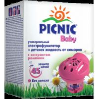 Жидкость от комаров Picnic Baby 45 ночей + фумигатор