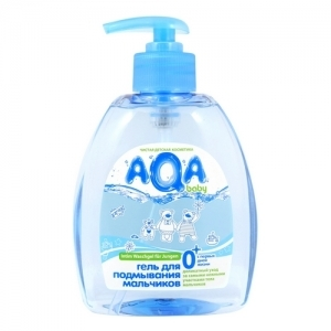 """Гель для подмывания мальчиков """"AQA"""" baby 300 мл. с дозатором"""