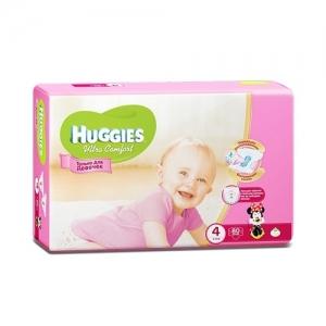 Подгузники HUGGIES Ultra Comfort для девочек GIGA-Pack №4 (8-14 кг) 80 шт.