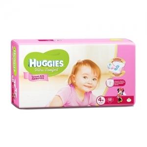 Подгузники HUGGIES Ultra Comfort для девочек GIGA-Pack №4+ (10-16 кг) 68 шт.