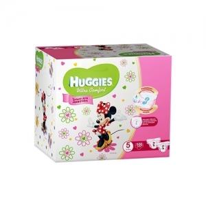 Подгузники HUGGIES Ultra Comfort для девочек DISNEY Box №5 (12-22 кг) 105 шт.
