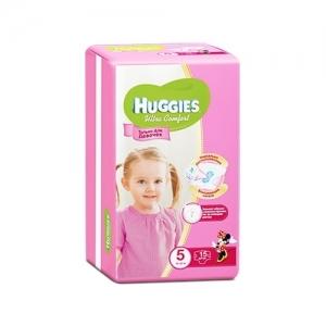 Подгузники HUGGIES Ultra Comfort для девочек Conv-Pack №5 (12-22 кг) 15 шт.