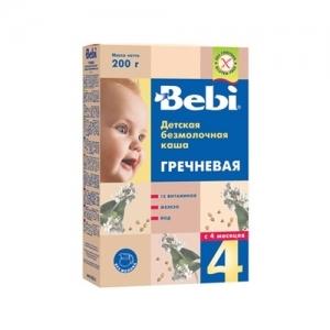 """""""Bebi"""" Каша БезМолочная Гречка с 4 месяцев 200 г."""