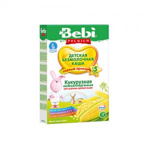"""""""Bebi"""" Каша Кукурузная НизкоАллергенная, обогащённая Пребиотиками с 5 месяцев 200 г."""
