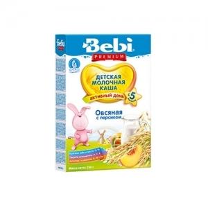"""""""Bebi PREMIUM"""" Молочная каша Овсяная с персиком с 5 месяцев 250 г."""