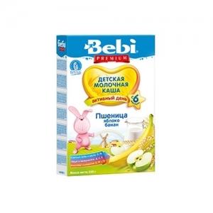 """Bebi PREMIUM"" Молочная каша Пшеница-яблоко,банан с 6 месяцев 250 г."