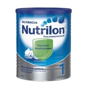 """""""Nutrilon КислоМолочный 1"""" сухая молочная смесь для здоровых детей с Рождения 400 г."""
