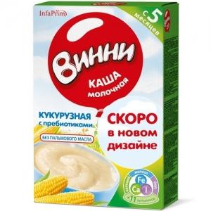 """Винни"" каша Молочная Кукурузная с Пребиотиками с 5 месяцев 200 г."