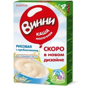 """Винни"" каша Молочная Рисовая с Пребиотиками с 4 месяцев 200 г."
