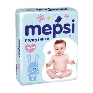 """Mepsi"" подгузники M (6-11 кг.) 64 шт."