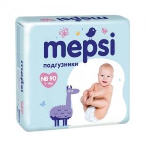 """Mepsi"" подгузники NB (до 6 кг.) 90 шт."