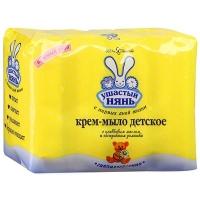 """мыло """"Ушастый НЯНЬ"""" Крем-Мыло с Оливковым маслом и экстрактом Ромашки 4*100 г."""