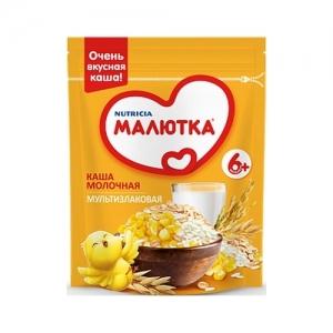 """""""МАЛЮТКА"""" Молочная Каша 220 г МультиЗлаковая с 6 месяцев"""