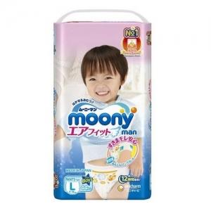 Трусики для мальчиков  MOONY  L (9 -14  кг ) 44 шт.