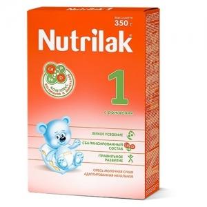 """""""Nutrilak 1"""" молочная смесь с рождения до 6 месяцев 350 г."""