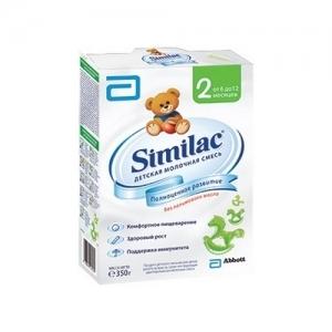 """Similac 2"" 350 г.  сухая молочная смесь с 6 до 12 месяцев"