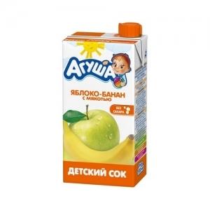 """""""Агуша"""" 500 мл. сок Яблоко-Банан с мякотью"""