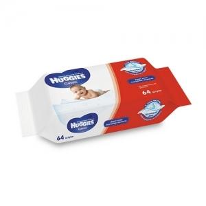 Салфетки детские влажные  HUGGIES Classic сменный блок 64 шт.