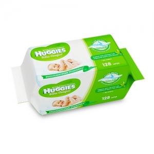 Салфетки детские влажные HUGGIES Ultra Comfort + Aloe 64х2 шт.